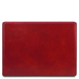 Leather desk pad with inner compartment Red TL142054