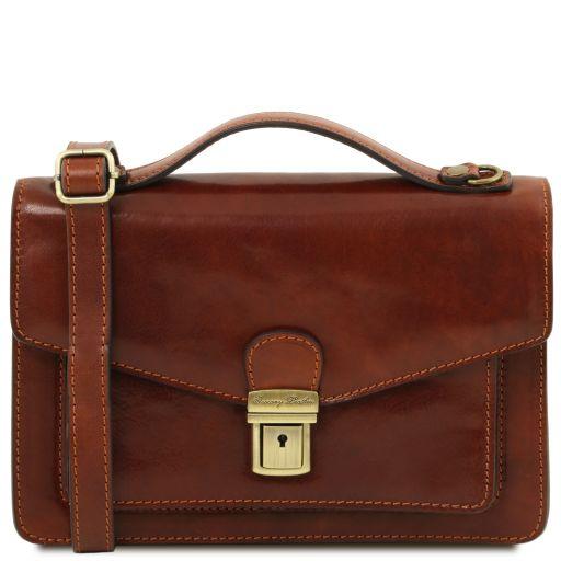Eric Leather Crossbody Bag Brown TL141443