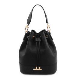 TL Bag Sac secchiello pour femme en cuir Noir TL142146