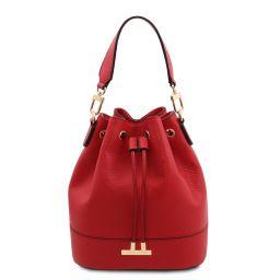 TL Bag Leather bucket bag Lipstick Red TL142146