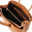 Procida Sac à main en cuir et portefeuille en cuir avec 3 volets et porte monnaie Cognac TL142151