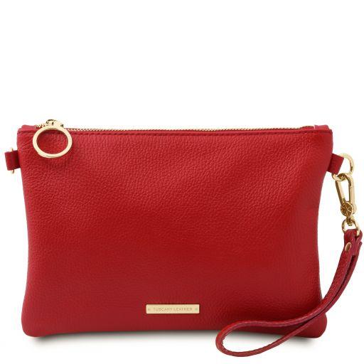 TL Bag Soft leather clutch Lipstick Red TL142029