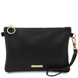 TL Bag Soft leather clutch Black TL142029