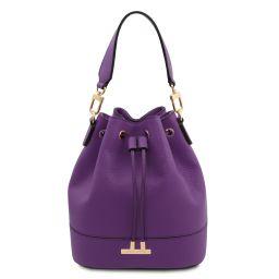 TL Bag Borsa secchiello in pelle Viola TL142146