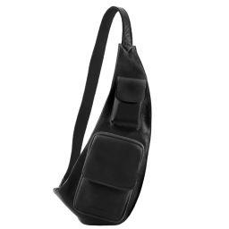 Leather crossover bag Black TL141352