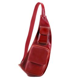 Leather crossover bag Red TL141352