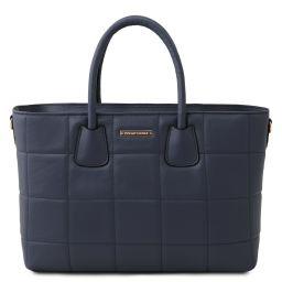 TL Bag Soft quilted leather handbag Dark Blue TL142124