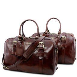 Vespucci Juego de maletas en piel Marrón TL141257