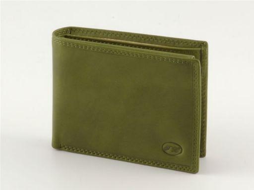 Esclusivo portafoglio in pelle uomo Verde TL140426