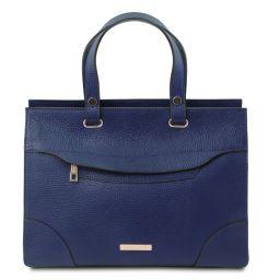 TL Bag Borsa a mano in pelle Blu scuro TL142079