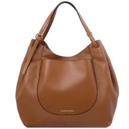 Cinzia Bolso shopping en piel suave Cognac TL142144