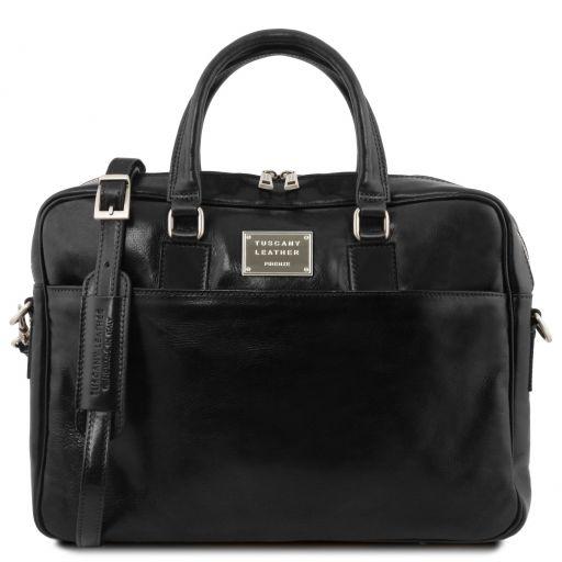 Urbino Кожаный портфель для ноутбука с передним карманом Черный TL141241