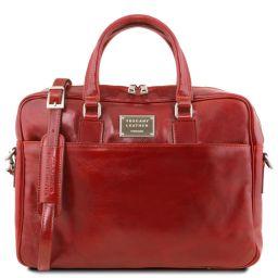 Urbino Cartella in pelle porta computer con tasca frontale Rosso TL141241
