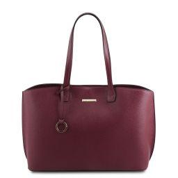 TL Bag Leather shopping bag Bordeaux TL141828