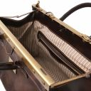 Barcellona Double-bottom Gladstone Leather Bag Brown TL141185
