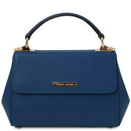 TL Bag Borsa a mano in pelle - Misura piccola Blu scuro TL142076