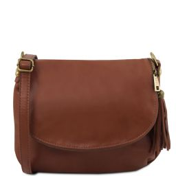TL Bag Сумка на плечо с кисточкой из мягкой кожи Cinnamon TL141223