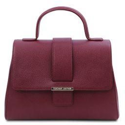 TL Bag Leather handbag Bordeaux TL142156