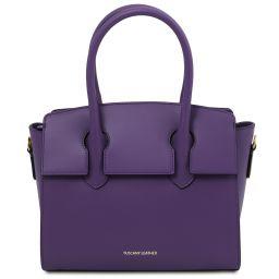 Brigid Leather handbag Purple TL141943