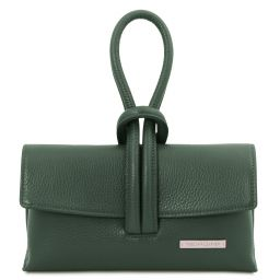 TL Bag Leather clutch Forest Green TL141990
