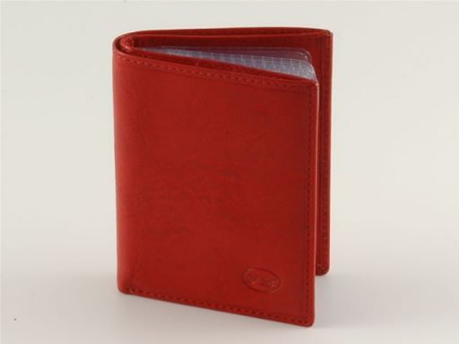 Esclusivo portacarte di credito in pelle Rosso TL140462