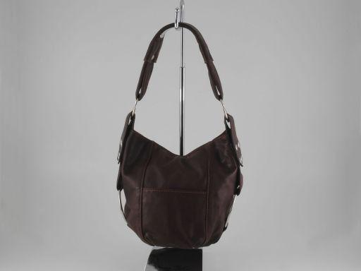Lara Lady leather handbag Dark Brown TL100480