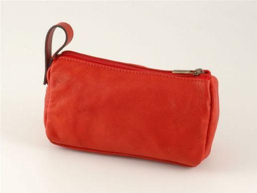 Mickey Beauty case in pelle Rosso TL100486