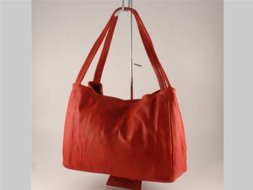 Anna Borsa donna in pelle Rosso TL140489