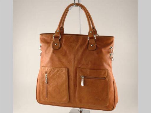 Camilla Borsa Shopping Grande in pelle Cognac TL140491