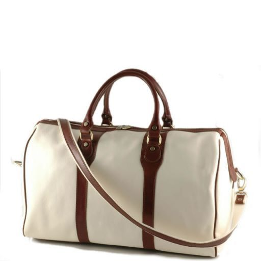 Oslo Travel leather bag - Yachting line Белый TL1044bis