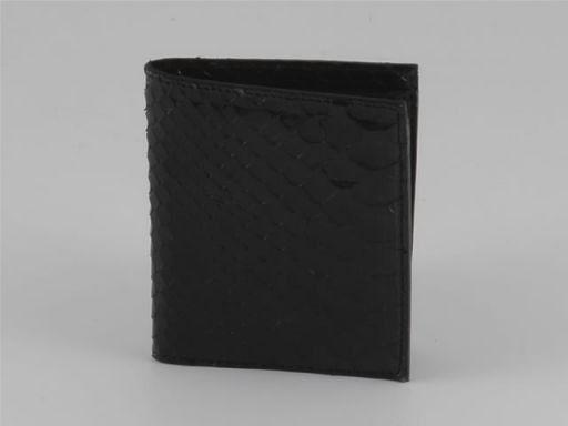 Esclusivo portafogli da uomo in vero pitone Nero TL140545